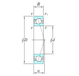 170 mm x 260 mm x 42 mm  KOYO 3NCHAC034CA angular contact ball bearings