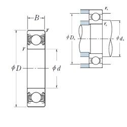 10 mm x 35 mm x 11 mm  NSK 6300VV deep groove ball bearings