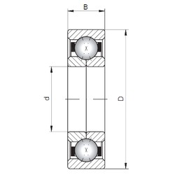 Loyal QJ324 angular contact ball bearings