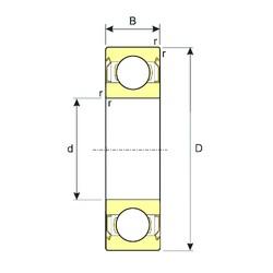 130 mm x 200 mm x 33 mm  ISB 6026-ZZ deep groove ball bearings