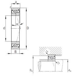 130 mm x 200 mm x 33 mm  FAG HCS7026-C-T-P4S angular contact ball bearings