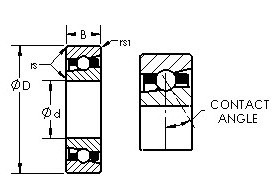 AST H7034C angular contact ball bearings