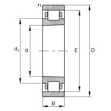 130 mm x 200 mm x 33 mm  FAG N1026-K-M1-SP cylindrical roller bearings