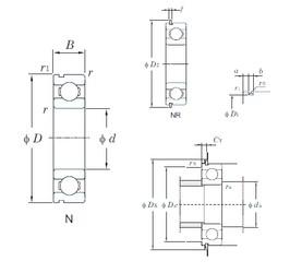 10 mm x 35 mm x 11 mm  KOYO 6300N deep groove ball bearings