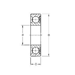 10 mm x 35 mm x 11 mm  Timken 300KD deep groove ball bearings