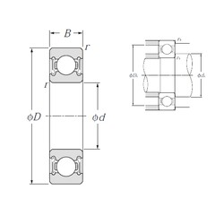 10 mm x 35 mm x 11 mm  NTN 6300LLB deep groove ball bearings