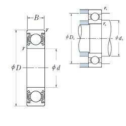 10 mm x 35 mm x 11 mm  NSK 6300ZZ deep groove ball bearings
