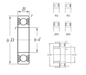 17 mm x 47 mm x 14 mm  KOYO 6303-2RS deep groove ball bearings