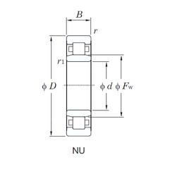 40 mm x 80 mm x 30.2 mm  KOYO NU3208 cylindrical roller bearings