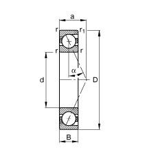 130 mm x 200 mm x 33 mm  FAG B7026-E-T-P4S angular contact ball bearings