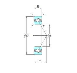 130 mm x 200 mm x 33 mm  KOYO 3NCHAR026 angular contact ball bearings
