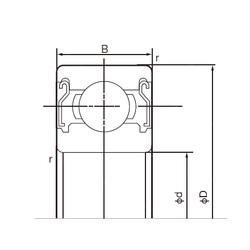 10 mm x 35 mm x 11 mm  NACHI 6300ZZE deep groove ball bearings
