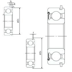 130 mm x 200 mm x 33 mm  NACHI 6026ZNR deep groove ball bearings