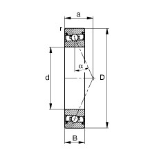 130 mm x 200 mm x 33 mm  FAG HSS7026-E-T-P4S angular contact ball bearings