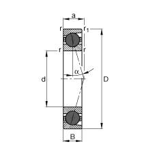 130 mm x 200 mm x 33 mm  FAG HCB7026-C-T-P4S angular contact ball bearings
