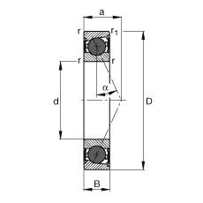 130 mm x 200 mm x 33 mm  FAG HCB7026-E-2RSD-T-P4S angular contact ball bearings