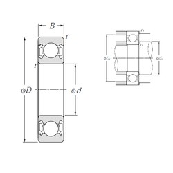 130 mm x 200 mm x 33 mm  NTN 6026ZZ deep groove ball bearings