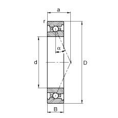 130 mm x 200 mm x 33 mm  FAG HS7026-E-T-P4S angular contact ball bearings