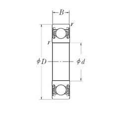 120 mm x 260 mm x 55 mm  NSK 6324DDU deep groove ball bearings