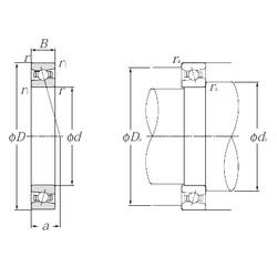 130 mm x 200 mm x 33 mm  NTN HSB026C angular contact ball bearings