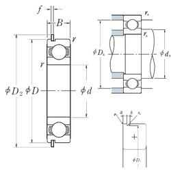 10 mm x 35 mm x 11 mm  NSK 6300NR deep groove ball bearings