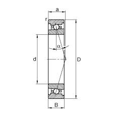 130 mm x 200 mm x 33 mm  FAG HS7026-C-T-P4S angular contact ball bearings