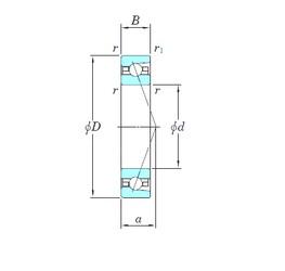 130 mm x 200 mm x 33 mm  KOYO HAR026CA angular contact ball bearings