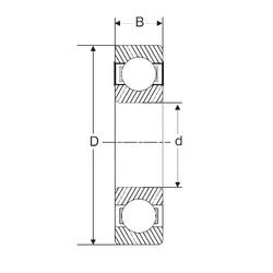 20 mm x 47 mm x 18 mm  SIGMA 62204-2RS deep groove ball bearings