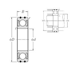 10 mm x 35 mm x 11 mm  NTN AC-6300ZZ deep groove ball bearings