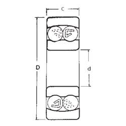 20 mm x 47 mm x 18 mm  FBJ 2204 self aligning ball bearings