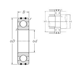 17 mm x 47 mm x 14 mm  NTN AC-6303 deep groove ball bearings
