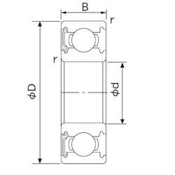 25 mm x 37 mm x 7 mm  NACHI 6805NKE deep groove ball bearings