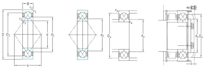 17 mm x 47 mm x 14 mm  SKF QJ303N2MA angular contact ball bearings