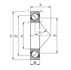 120 mm x 260 mm x 55 mm  FAG 7324-B-TVP angular contact ball bearings