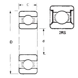 25 mm x 37 mm x 7 mm  FBJ 6805-2RS deep groove ball bearings