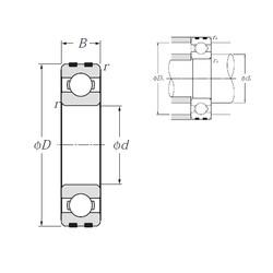 10 mm x 35 mm x 11 mm  NTN EC-6300 deep groove ball bearings