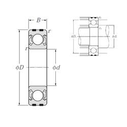 10 mm x 35 mm x 11 mm  NTN EC-6300ZZ deep groove ball bearings