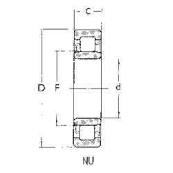 20 mm x 47 mm x 18 mm  FBJ NU2204 cylindrical roller bearings