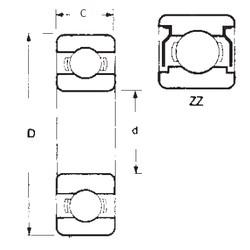 17 mm x 47 mm x 14 mm  FBJ 6303ZZ deep groove ball bearings