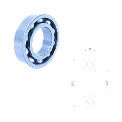 10 mm x 35 mm x 11 mm  Fersa 6300 deep groove ball bearings