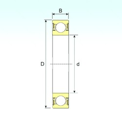 25 mm x 37 mm x 7 mm  ISB 61805-2RZ deep groove ball bearings