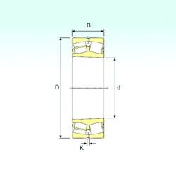 90 mm x 190 mm x 64 mm  ISB 22318 KVA spherical roller bearings