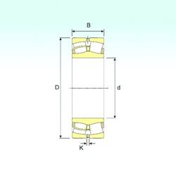 240 mm x 500 mm x 155 mm  ISB 22348 VA spherical roller bearings