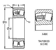 AST 22330MBK spherical roller bearings