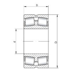 150 mm x 320 mm x 108 mm  Loyal 22330 CW33 spherical roller bearings
