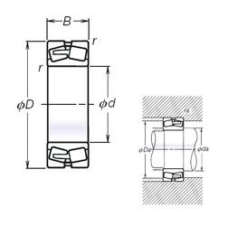 150 mm x 320 mm x 108 mm  NSK TL22330CAE4 spherical roller bearings