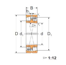 150 mm x 320 mm x 108 mm  FBJ 22330K spherical roller bearings