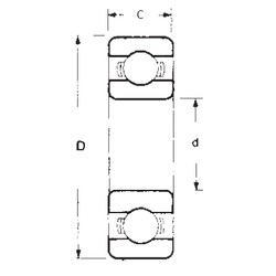 10 mm x 35 mm x 11 mm  FBJ 6300 deep groove ball bearings