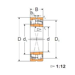 90 mm x 190 mm x 64 mm  Loyal 22318 KW33 spherical roller bearings