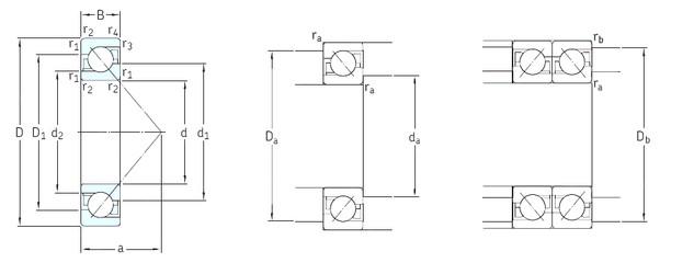 120 mm x 260 mm x 55 mm  SKF 7324BCBM angular contact ball bearings